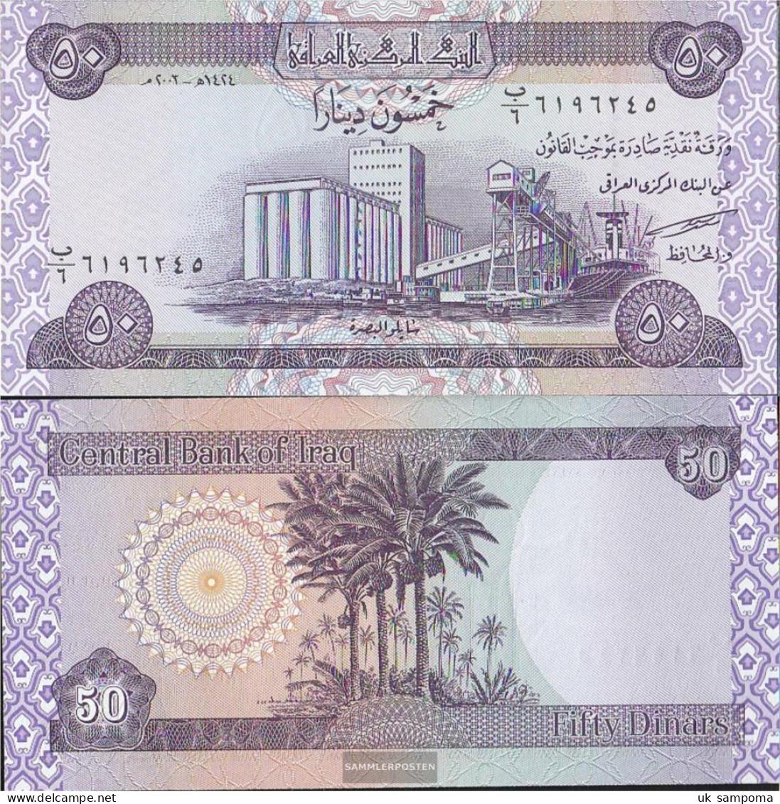 Iraq Pick-number: 90 Uncirculated 2003 50 Dinars - Iraq