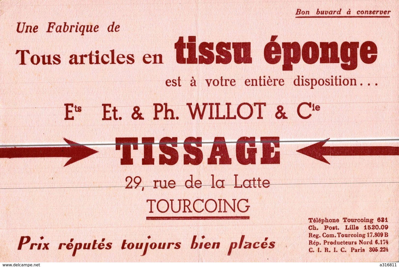 TISSU EPONGE  TISSAGE A TOURCOING - Buvards, Protège-cahiers Illustrés