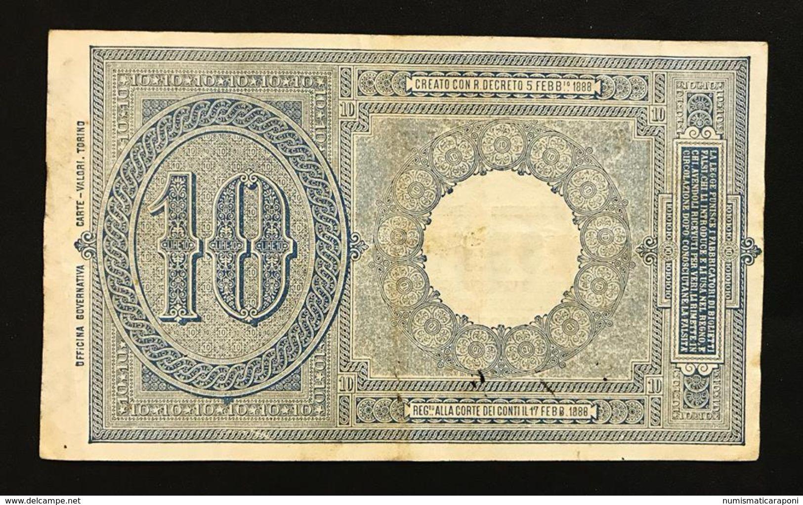 10 Lire Vittorio Emanuele III° Serie 2248 11 10 1915 Raro Naturale Bb/spl LOTTO 379 - [ 1] …-1946 : Kingdom