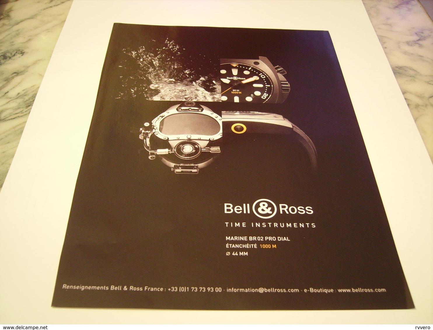 PUBLICITE AFFICHE MONTRE BELL & ROSS  2011 - Gioielli & Orologeria