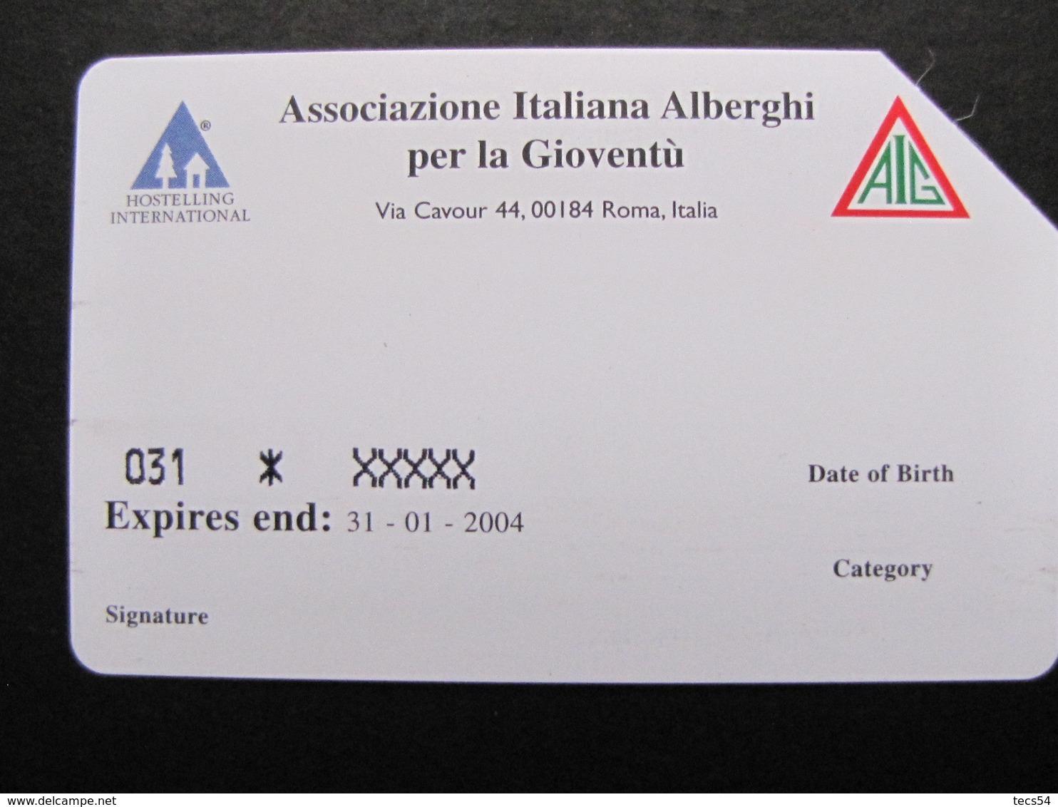 121 GOLDEN EURO - AIG TESSERAMENTO 2003 - USATA - Public Advertising