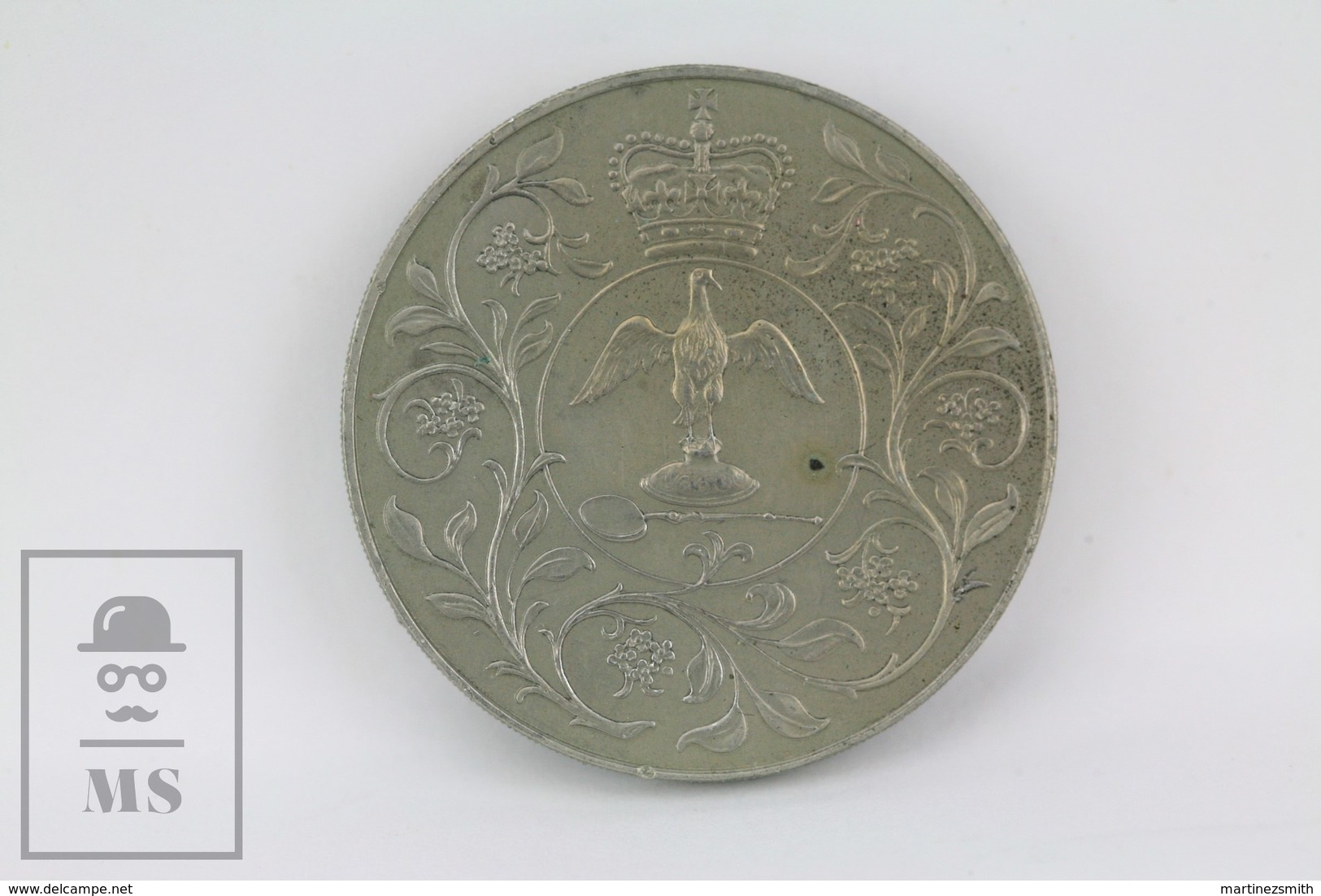 Vintage British 1977 Elizabeth II Silver Jubilee Crown Coin DG. REG. FD - Adel