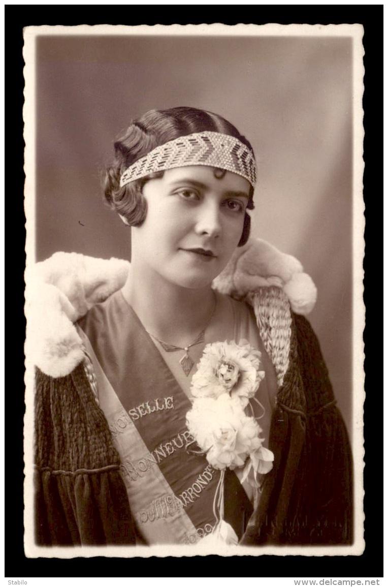 75 - PARIS 3EME - DEMOISELLE D'HONNEUR DU 3E ARRONDISSEMENT EN 1929 - CARTE PHOTO ORIGINALE - Paris (03)