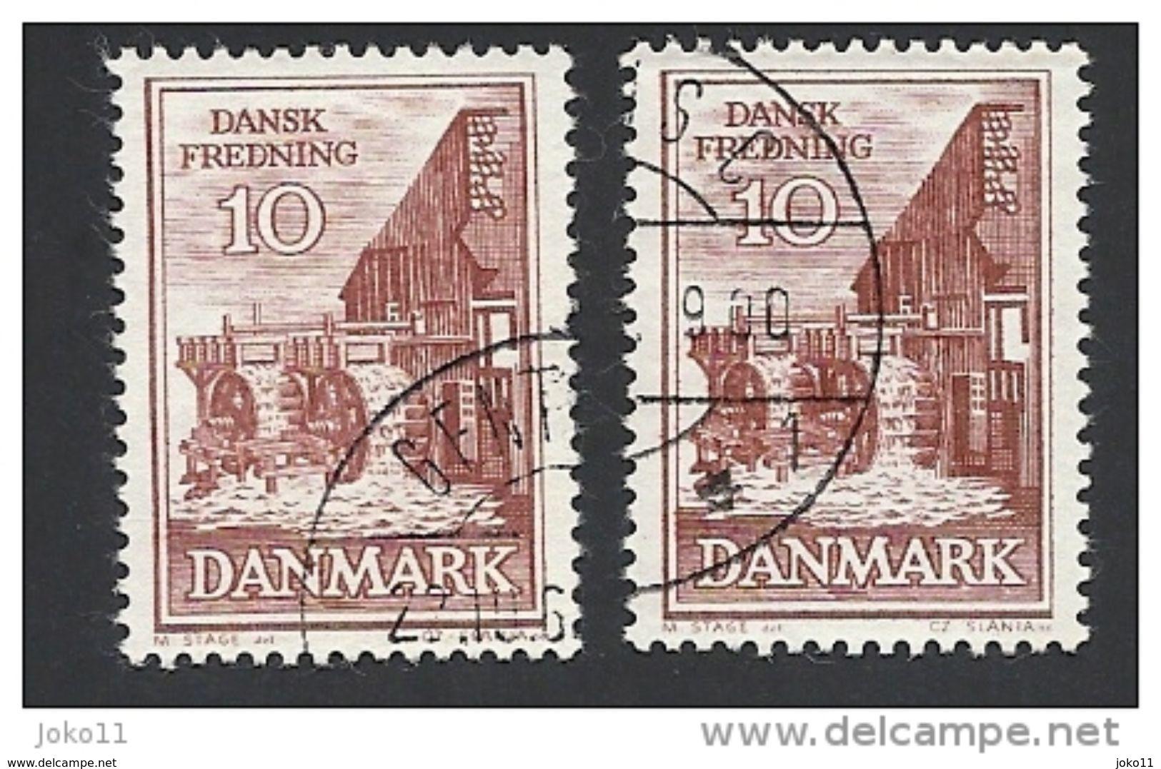 Dänemark 1962, Mi.-Nr. 404 X+y, Gestempelt - Dänemark