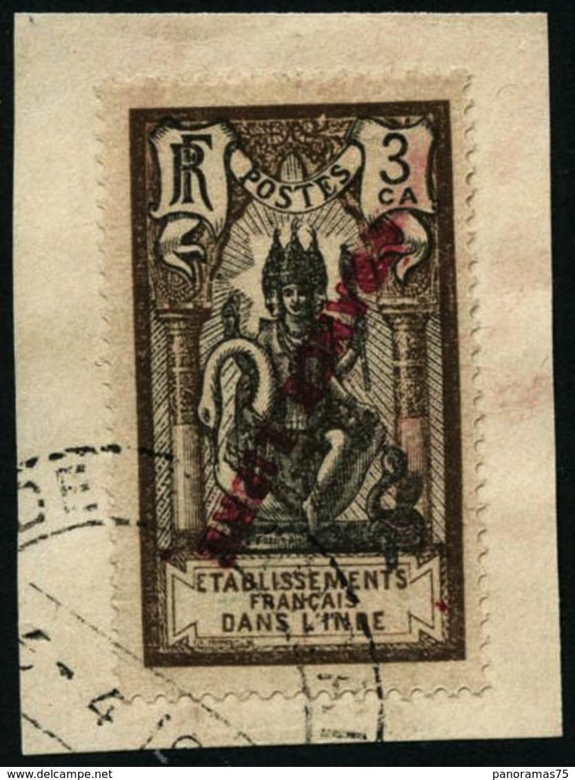 Oblit. N°133a 3c Brun Et Noir, Surcharge Renversée - TB - India (1892-1954)