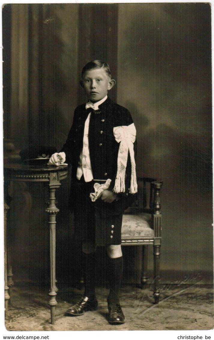 Portret Jongen, Portrait, Fotokaart, Carte Photo,J Couvreur, Menin, Menen (pk41767) - Autres Photographes