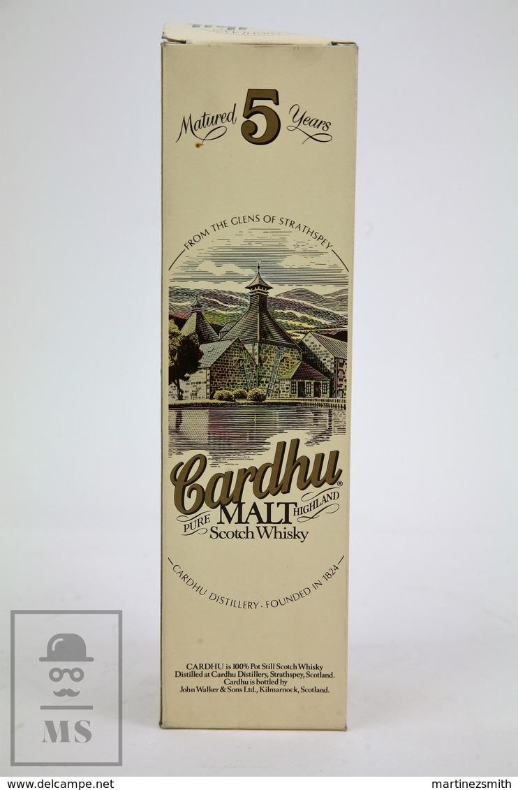 Empty Cardhu Pure Highland Malt Scotch Whisky 5 Years Old Presentation Box - Otros