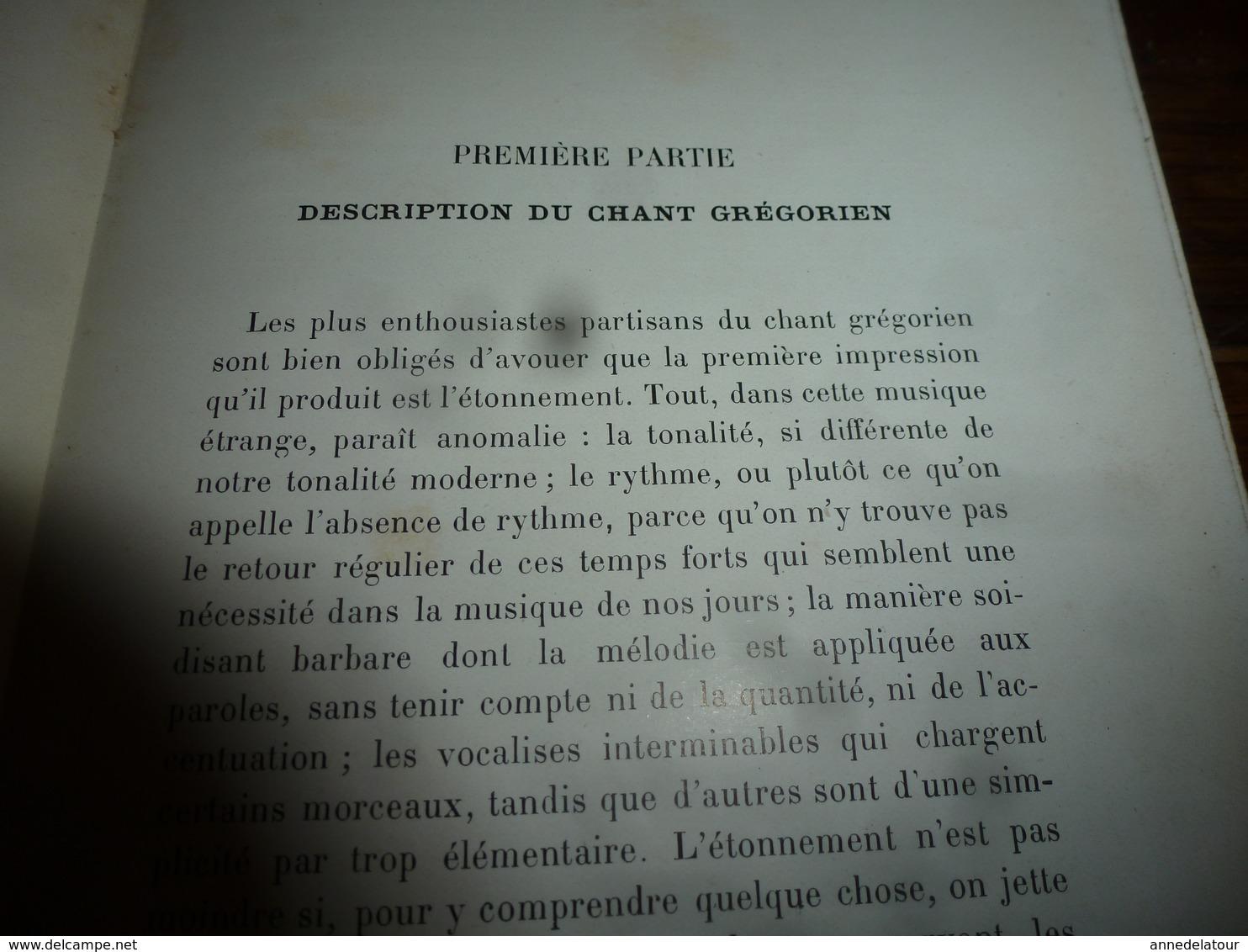 1913 La Musique Grégorienne , Par Dom Augustin Gatard ,bénédictin De Farnborough, Illustré Par 12 Planches ,etc - Music & Instruments