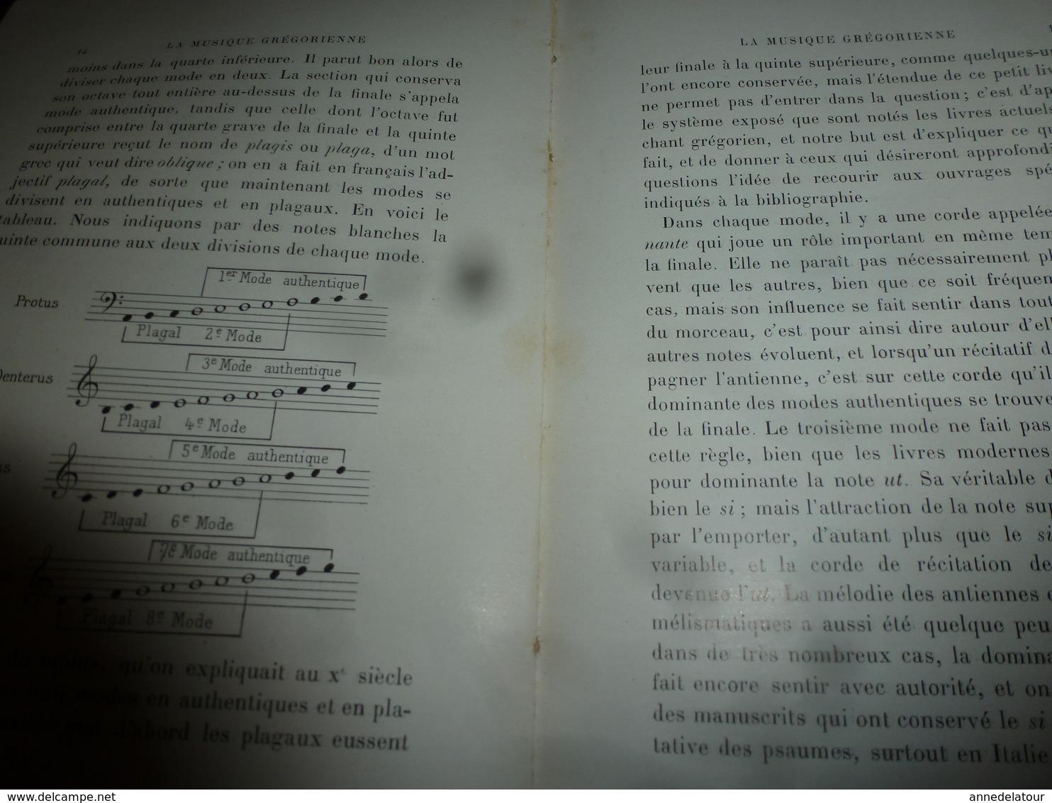 1913 La Musique Grégorienne , Par Dom Augustin Gatard ,bénédictin De Farnborough, Illustré Par 12 Planches ,etc - Otros