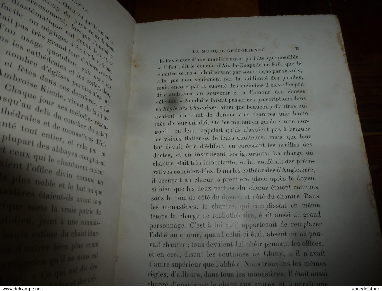 1913 La Musique Grégorienne , Par Dom Augustin Gatard ,bénédictin De Farnborough, Illustré Par 12 Planches ,etc - Other