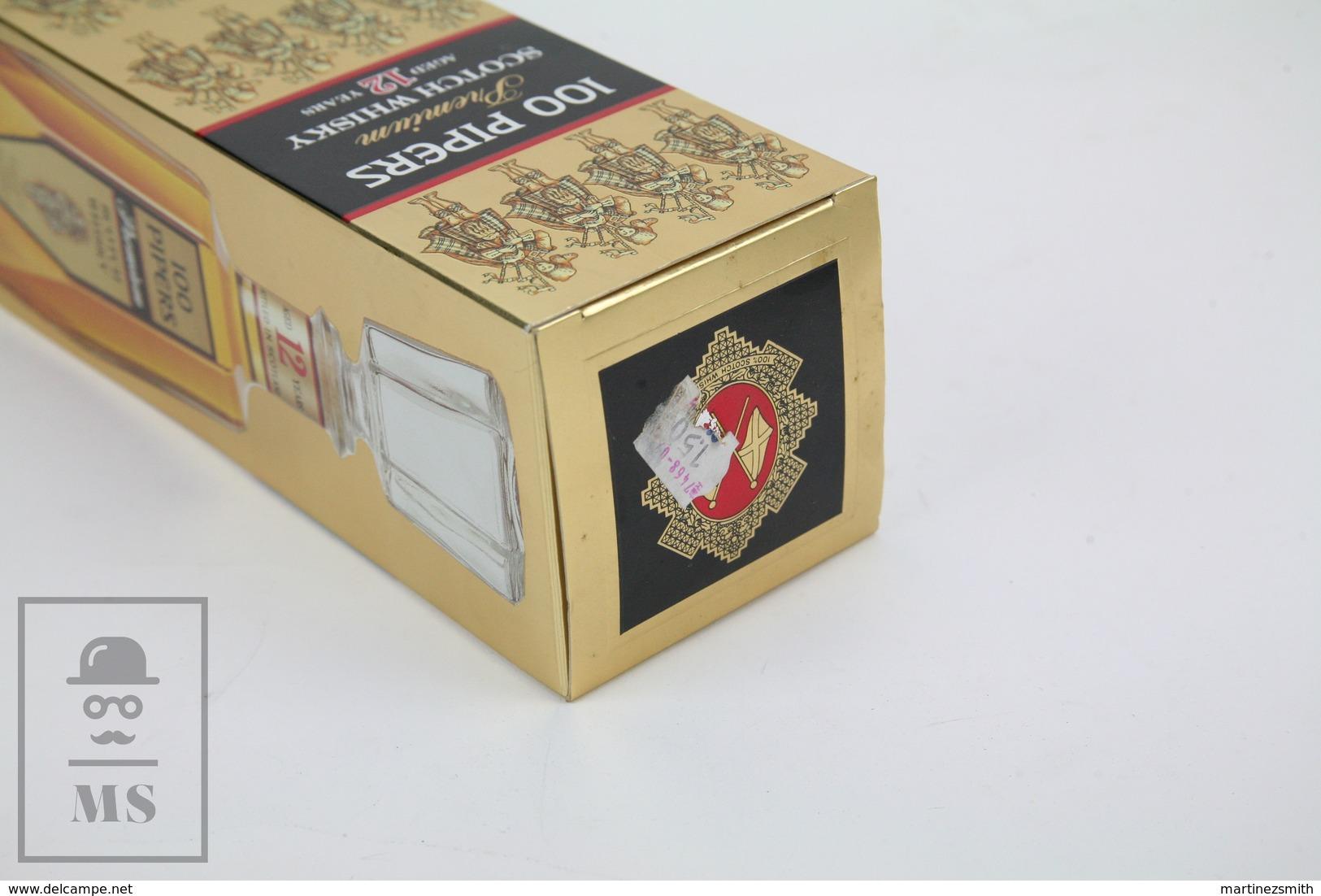 Empty Vintage 100 Pipers Premium Scotch Whisky Aged 12 Years Presentation Box - Otros