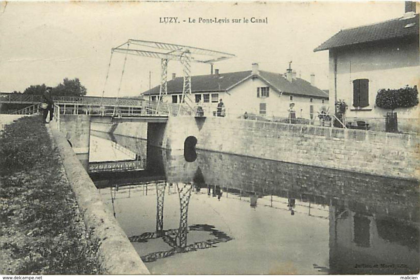 - Nievre -ref-A931- Luzy - Pont Levis Sur Le Canal - Canaux - Carte Bon Etat - - France
