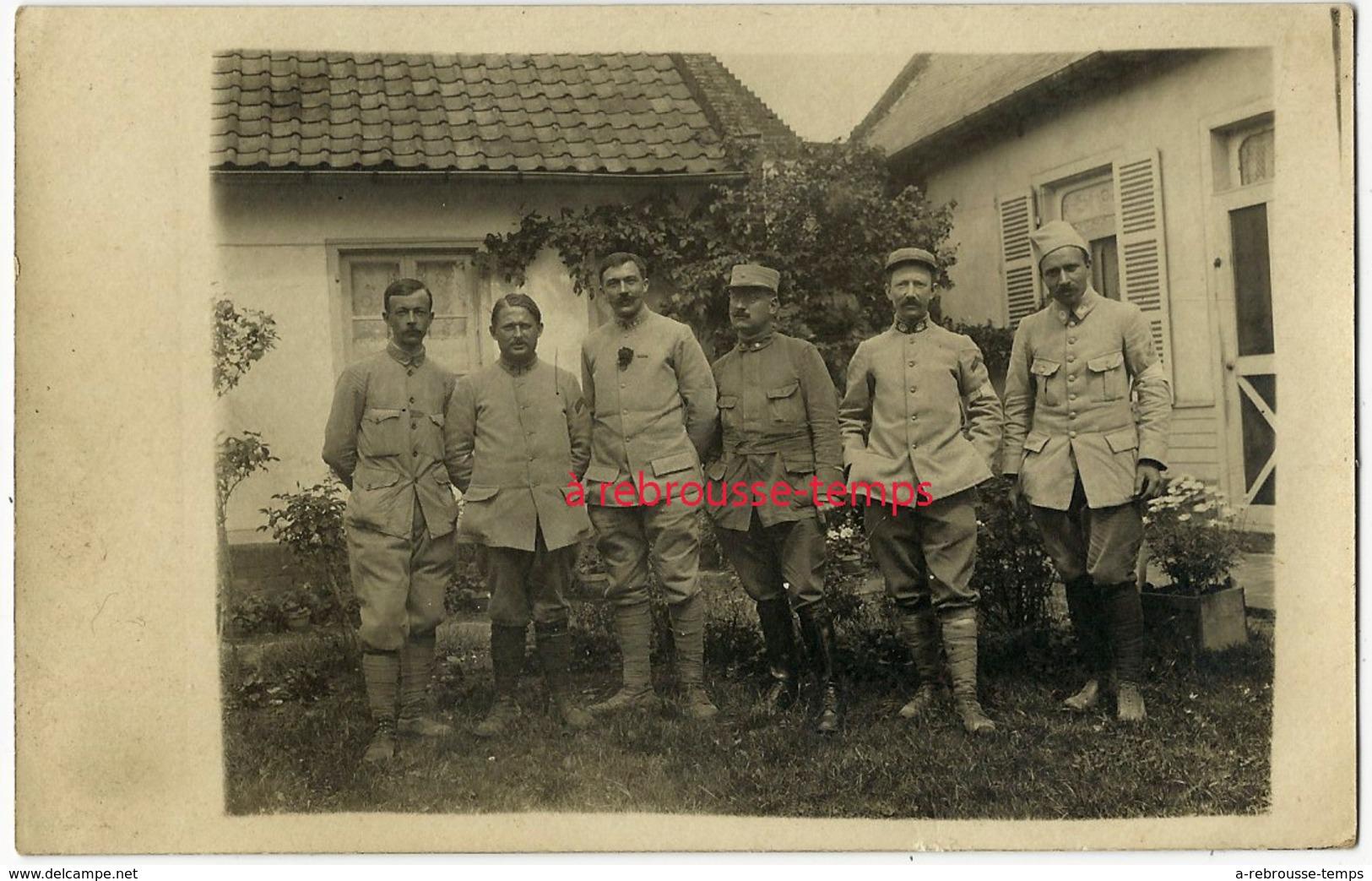 Carte Photo Guerre 1914-à Prouzel- Juillet 1916- Bataille De La Somme-divers Régiments Dont 147e, 2e Et étoile Et Ramure - Guerra, Militari
