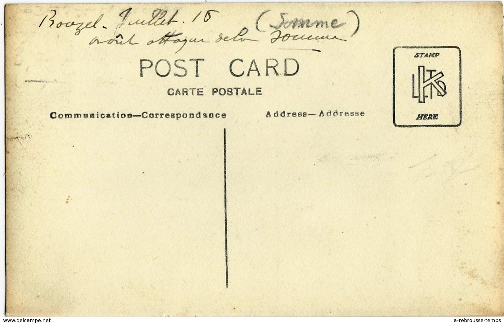 Carte Photo Guerre 1914-à Prouzel- Juillet 1916- Bataille De La Somme-divers Régiments Dont 147e, 2e Et étoile Et Ramure - Krieg, Militär