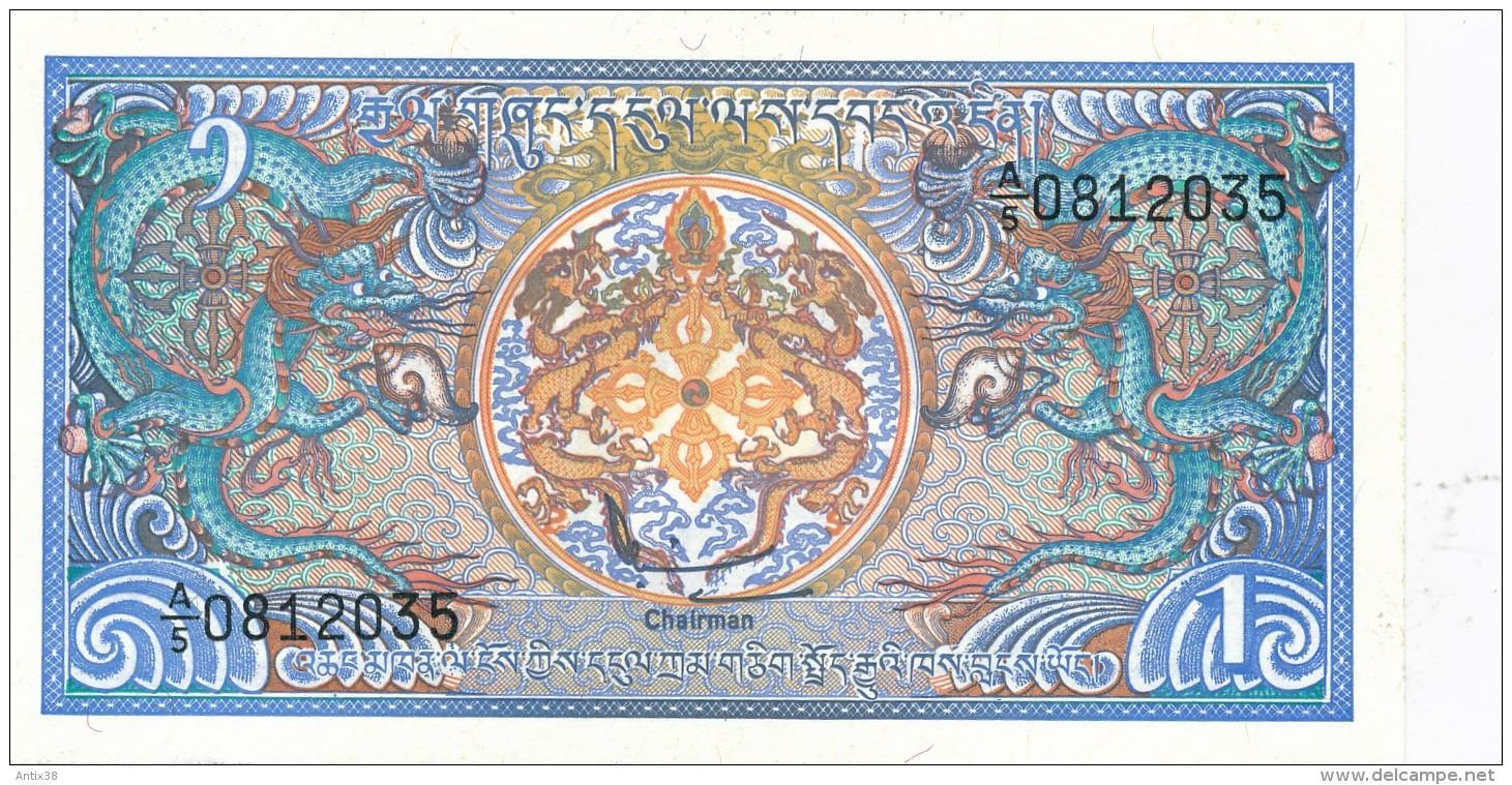 H32 - BOUTHAN - BILLET DE 1 NGULTRUM - Bhoutan