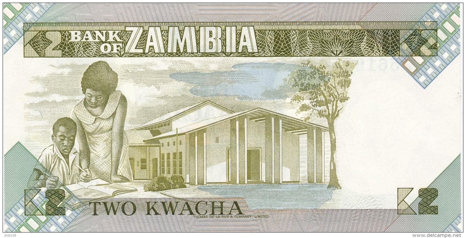 H32 - ZAMBIE - Billet De 2 KWACHA - Zambie