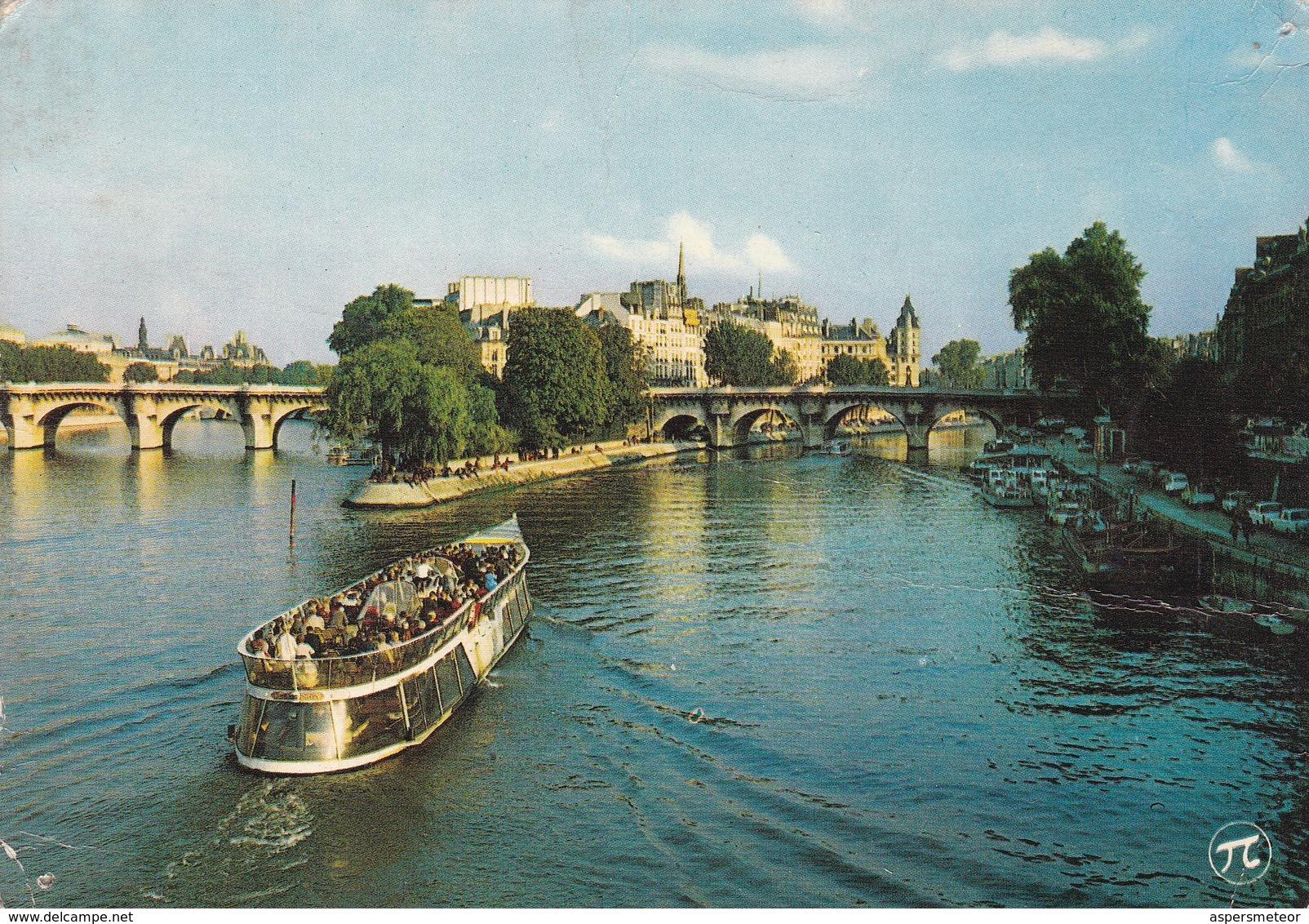 PARIS, POINTE DU VERT GALANT. EDITIONS PI.-VOYAGEE-TBE-BLEUP - Ponts