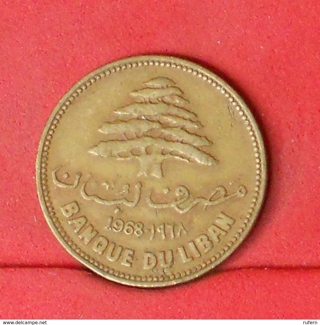 LEBANON 25 PIASTRES 1968 -    KM# 27,1 - (Nº20306) - Liban