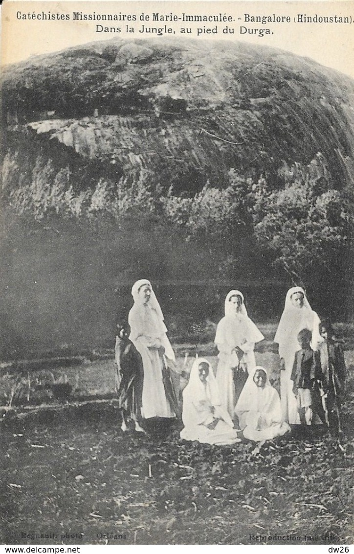 Catéchistes Missionnaires De Marie-Immaculé, Bangalore (Hindoustan) Dans La Jungle, Au Pied Du Durga, Carte Non Circulée - Missions