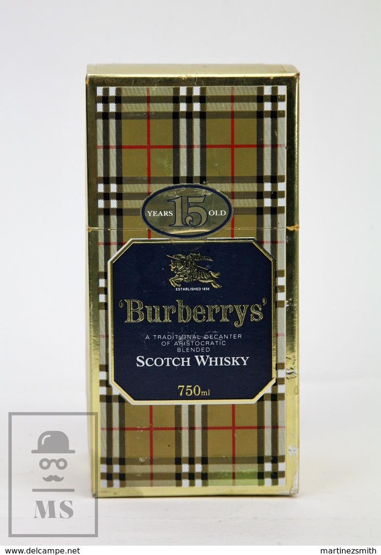 Empty Vintage Burberrys 15 Years Old Scotch Whisky Presentation Box - Otras Colecciones