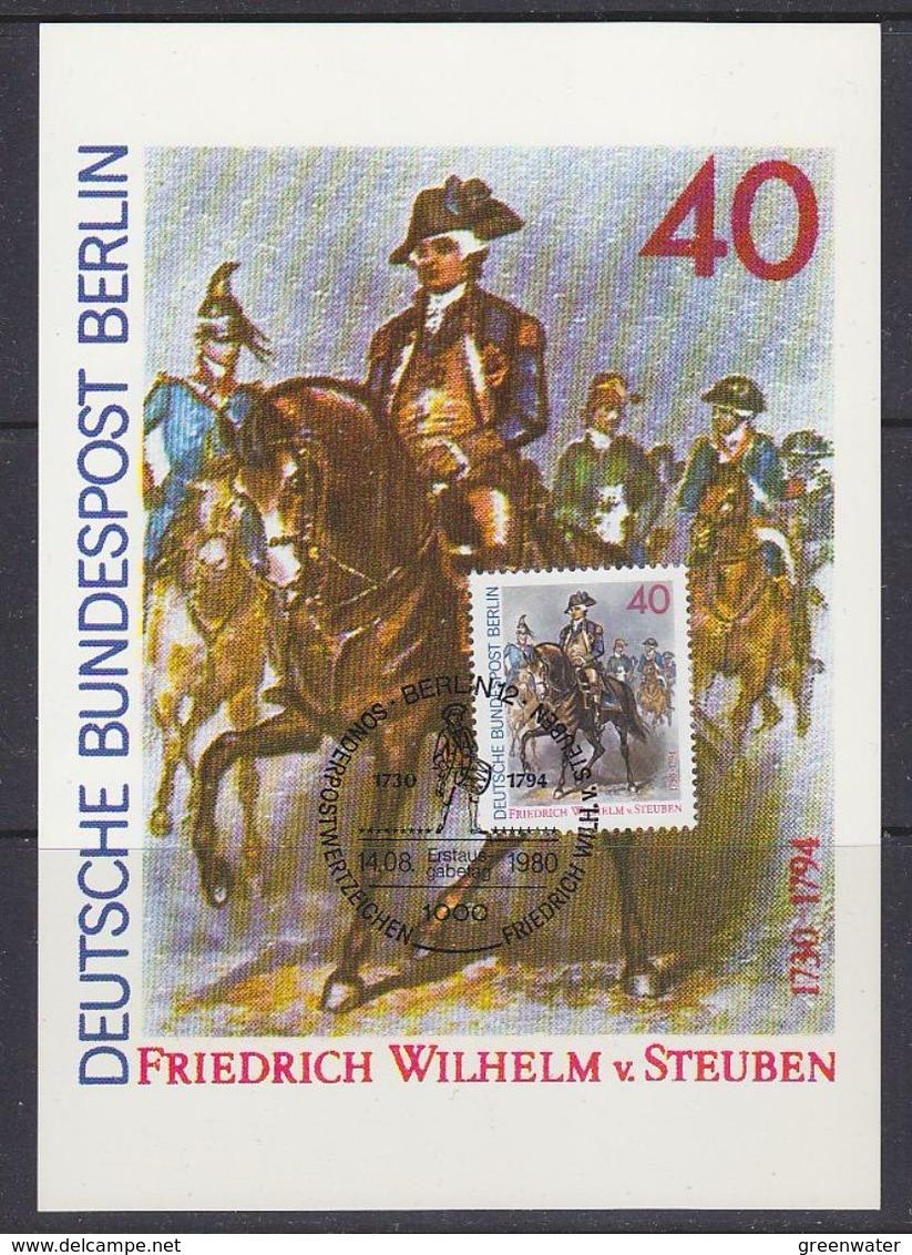 Berlin 1980 Friedrich Wilhelm Von Stauben 1v Maxicard (37445) - Maximum Kaarten