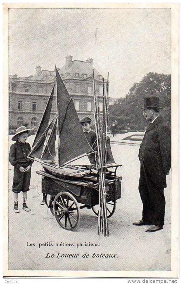 75 Les Petits Métiers Parisiens:  Le Loueur De Bâteaux - Petits Métiers à Paris