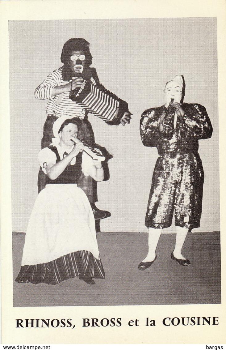 Carte Publicité Artiste Cirque Clown Rhinoss Bross Et La Cousine - Programme