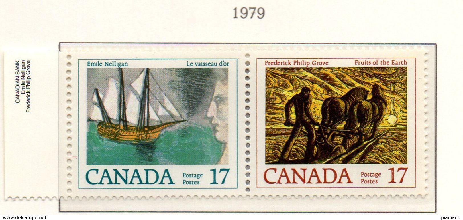 PIA - CANADA  - 1979   : Personalità Canadesi -  (Yv 704-05) - 1952-.... Regno Di Elizabeth II
