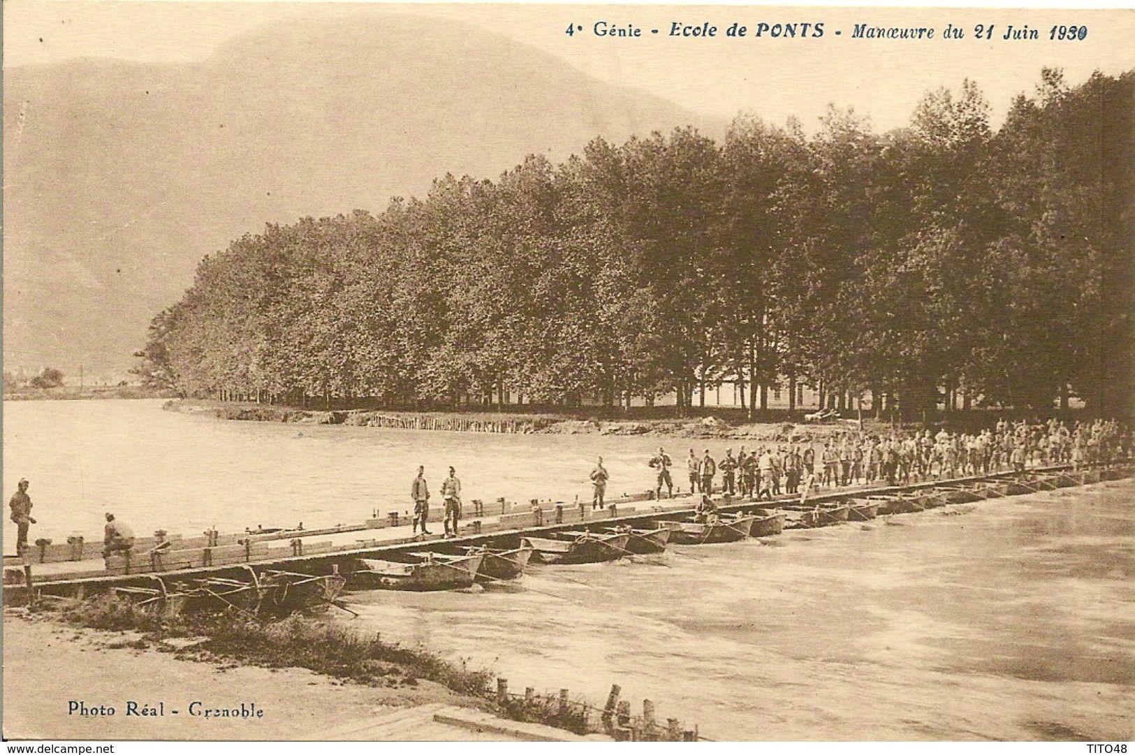 MILITAIRE .Gènie- Ecole De PONTS - Manoeuvre Du 21 Juin 1930 - Grenoble