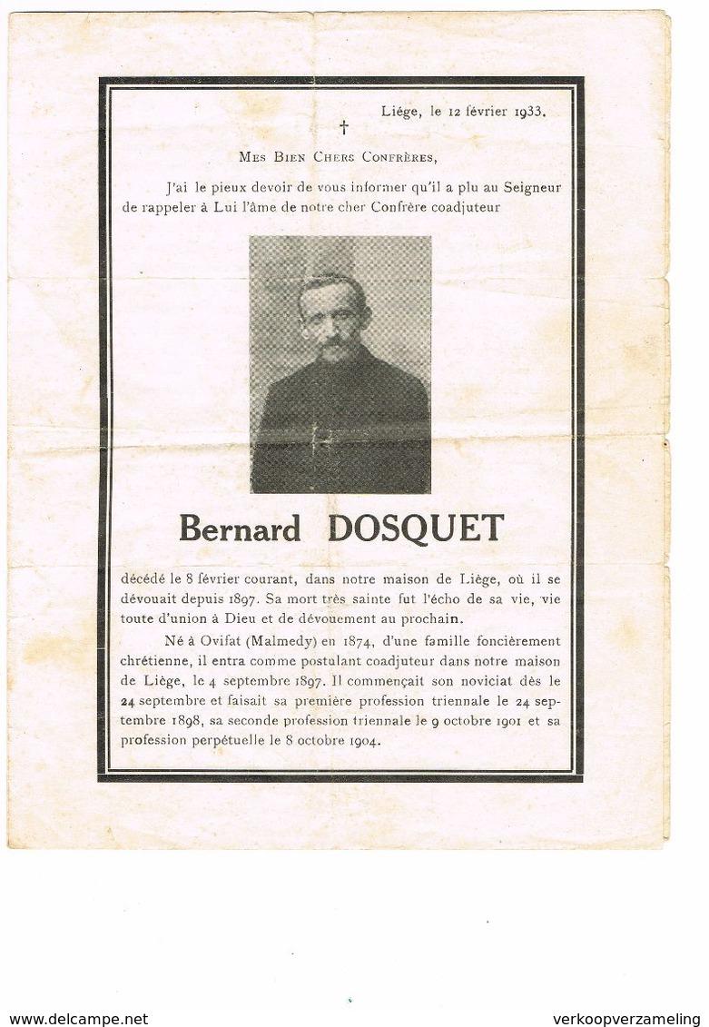 Bernard Dosquet Nee Ovifat - Images Religieuses