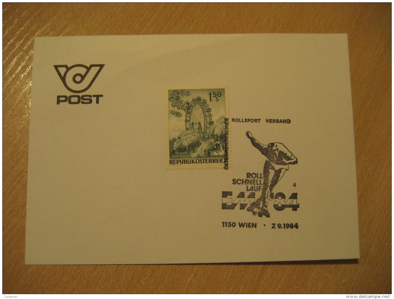 WIEN 1984 Rollsport Verband Skateboard Skating Patinage Cancel Card AUSTRIA - Skateboard