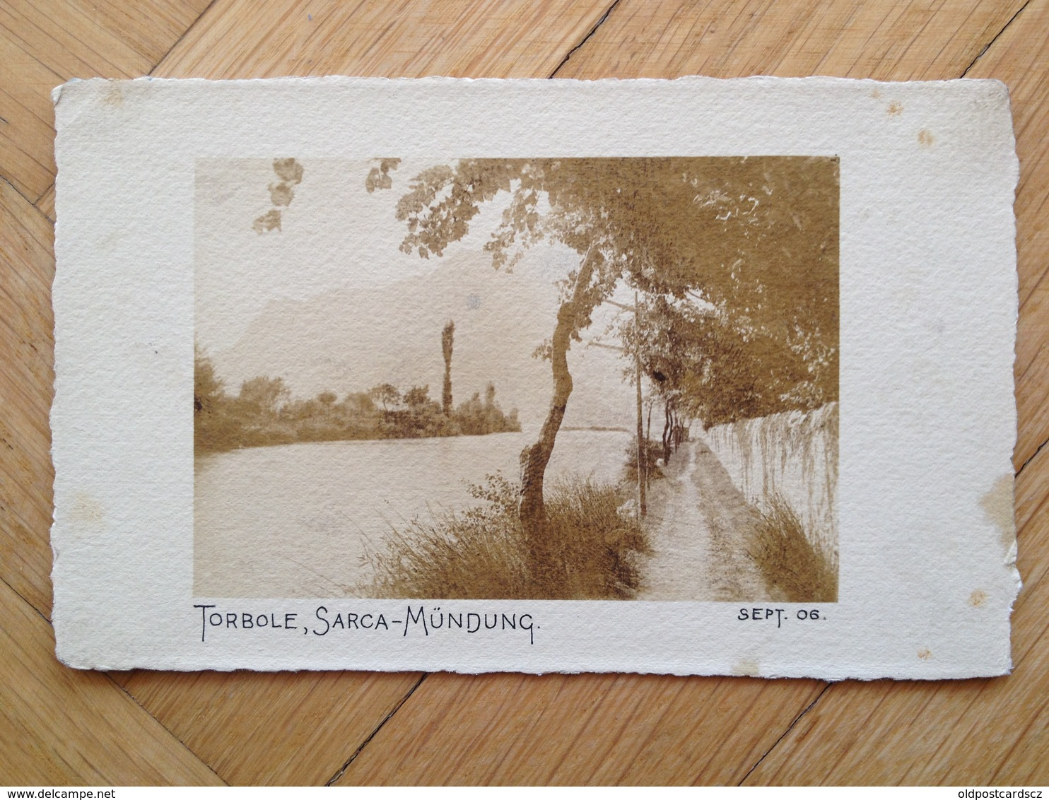 TN 3063 Lago Di Garda Torbole 1906 Sarca Mundung Photo - Italia