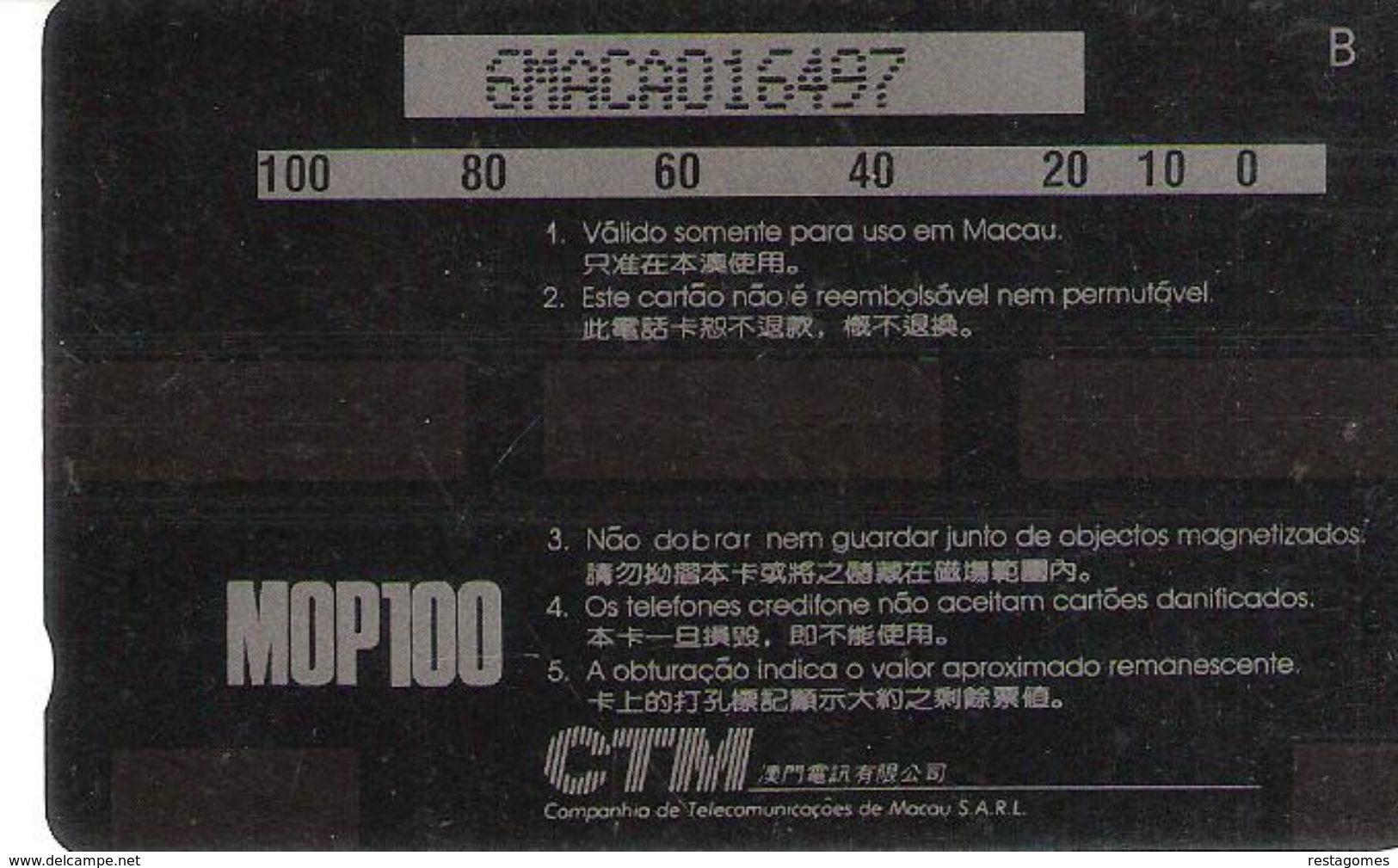 Portugal - Phonecard/ Telécarte Telecom Card / MACAU-CTM--PINTURA CHINESA - Macao