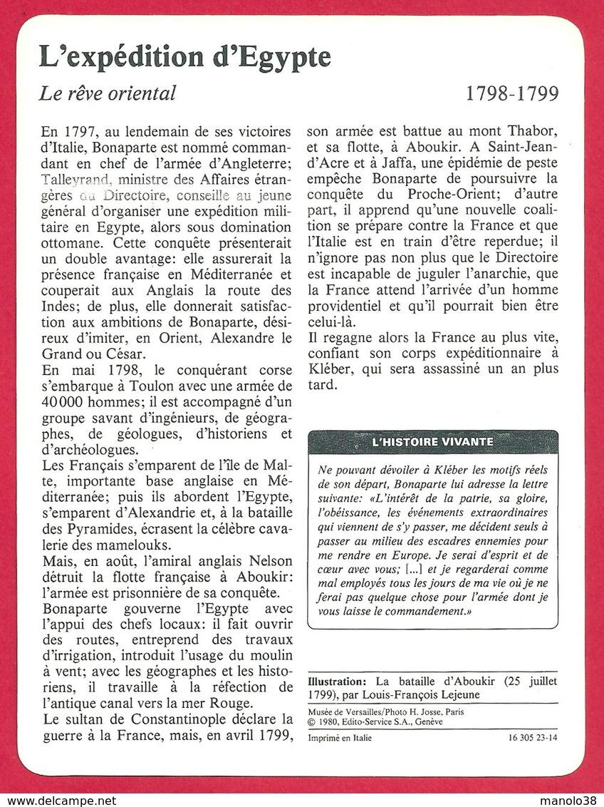 L'expédition D'Egypte, Napoléon Bonaparte, Général Bonaparte, Expédition Scientifique, Première République Française - Histoire