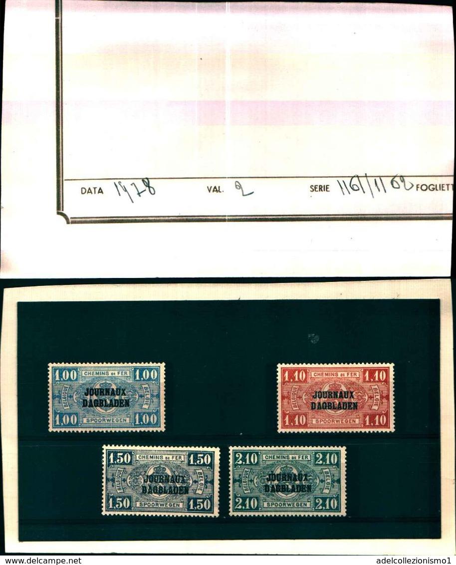 85854) BELGIUM - BELGIO - 1931-FRANCOBOLLI PER GIORNALI-MNH**-SERIE COMPLETA N.37/40 - Dagbladzegels