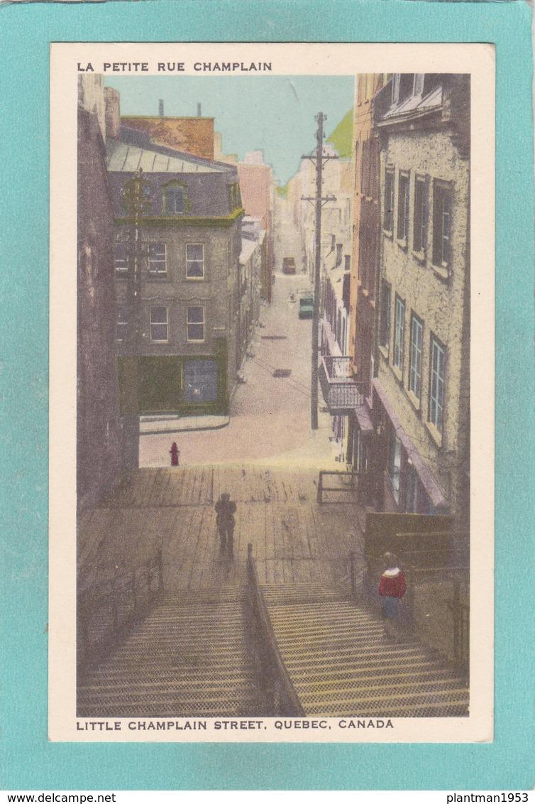 Small Postcard Of Little Champlain Street,Quebec,Canada.Q80. - Quebec