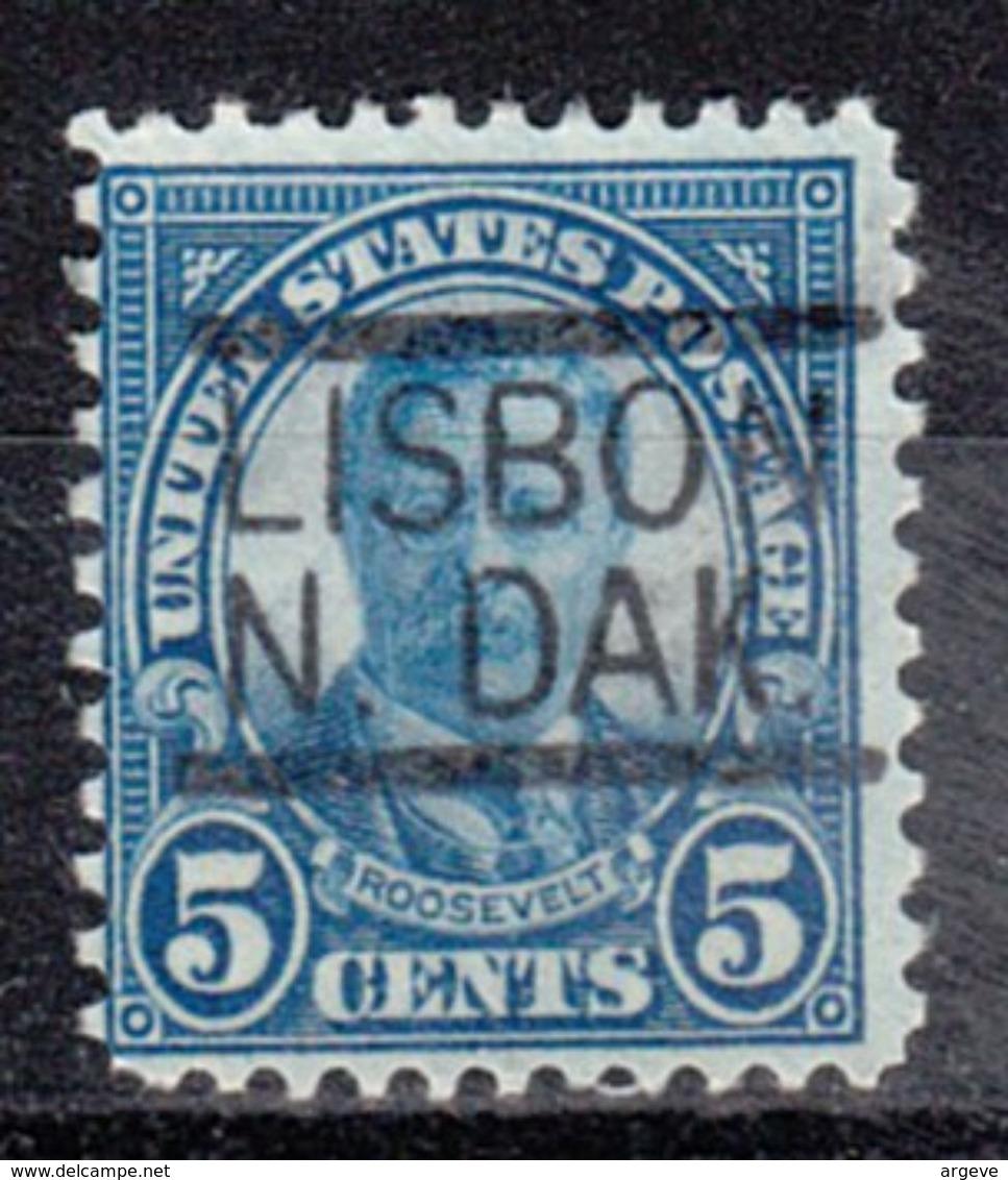 USA Precancel Vorausentwertung Preo, Locals North Dakota, Lisbon 637-547 - Vereinigte Staaten