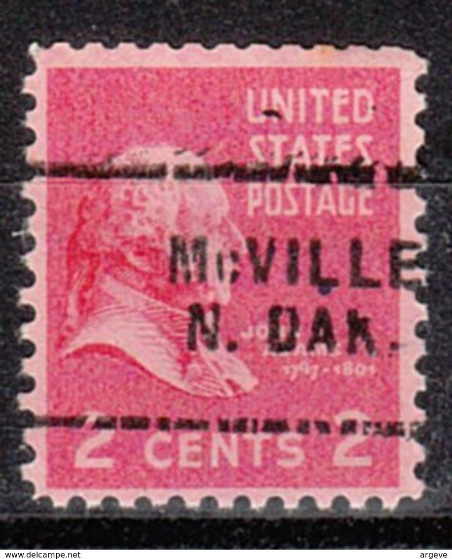 USA Precancel Vorausentwertung Preo, Locals North Dakota, McVille 703 - Vereinigte Staaten