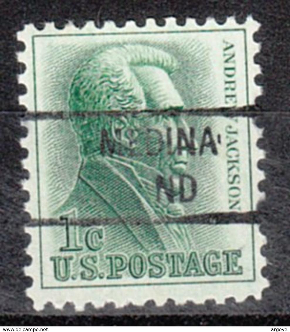 USA Precancel Vorausentwertung Preo, Locals North Dakota, Medina 841 - Vereinigte Staaten