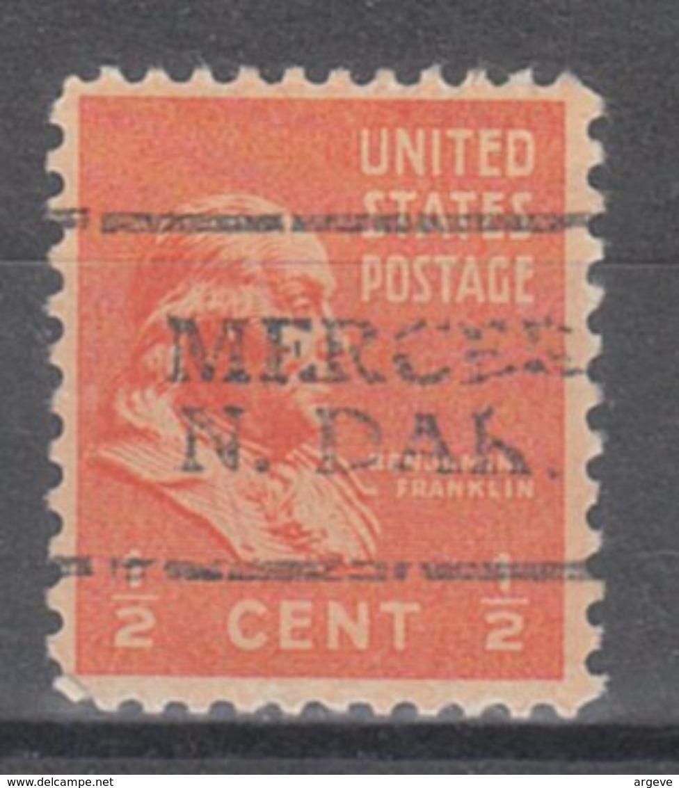 USA Precancel Vorausentwertung Preo, Locals North Dakota, Mercer 701 - Vereinigte Staaten