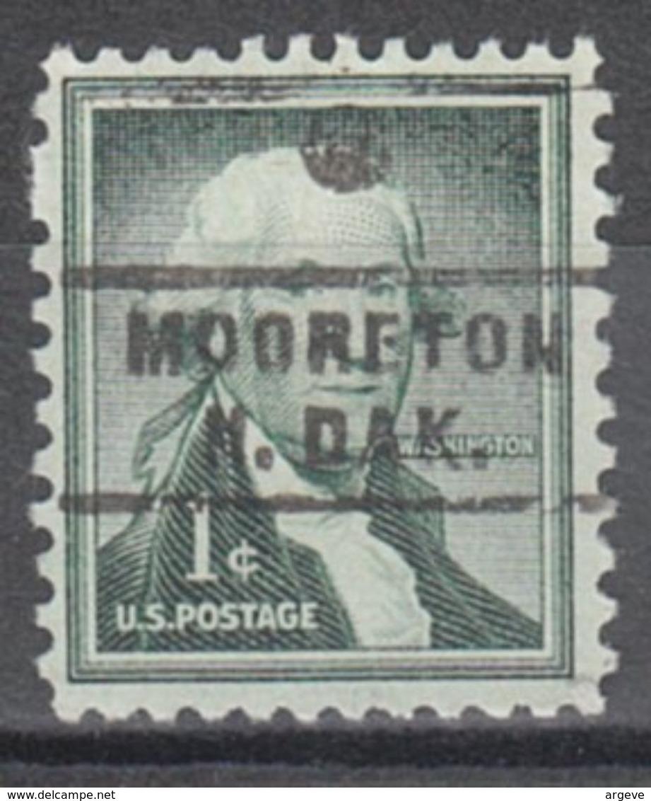 USA Precancel Vorausentwertung Preo, Locals North Dakota, Mooreton743 - Vereinigte Staaten