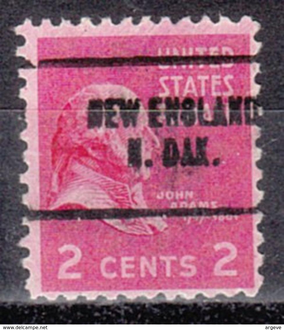 USA Precancel Vorausentwertung Preo, Locals North Dakota, New England 704 - Vereinigte Staaten