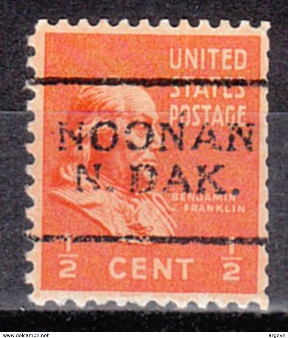 USA Precancel Vorausentwertung Preo, Locals North Dakota, Noonan 701 - Vereinigte Staaten