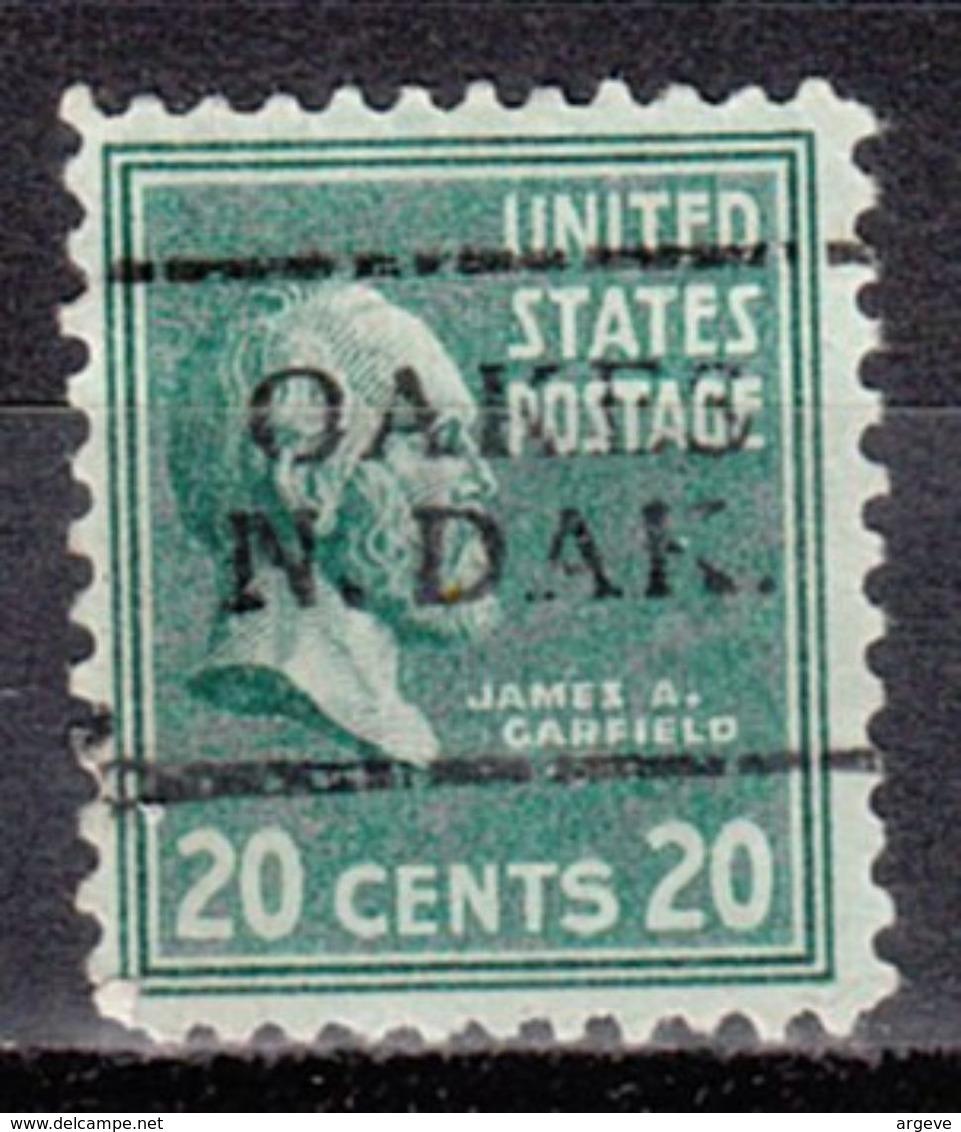 USA Precancel Vorausentwertung Preo, Locals North Dakota, Oakes 701 - Vereinigte Staaten
