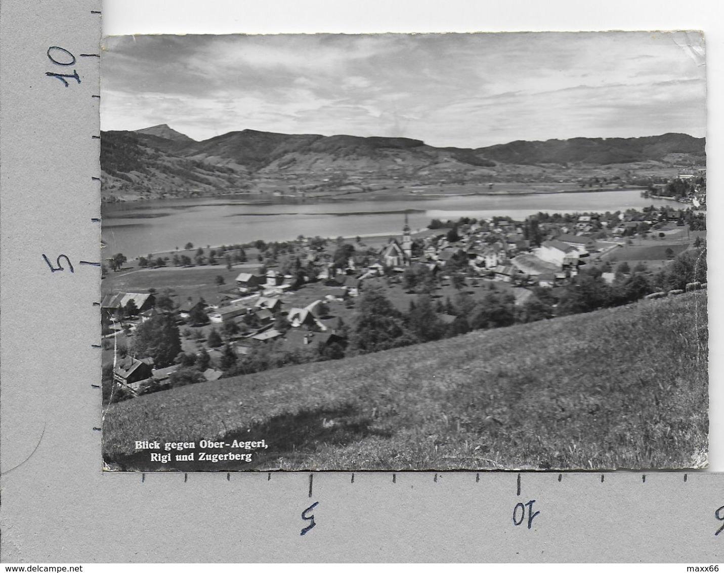 CARTOLINA VG SVIZZERA - Blick Gegen Ober Aegeri Rigi Und Zugerberg - Institut Lichtenberg 10 X 15 - ANN. 1958 - ZG Zoug
