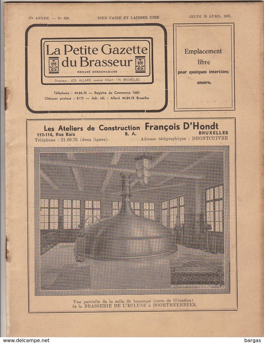 Revue LA PETITE GAZETTE DU BRASSEUR Bière Brasserie 1935 - Autres
