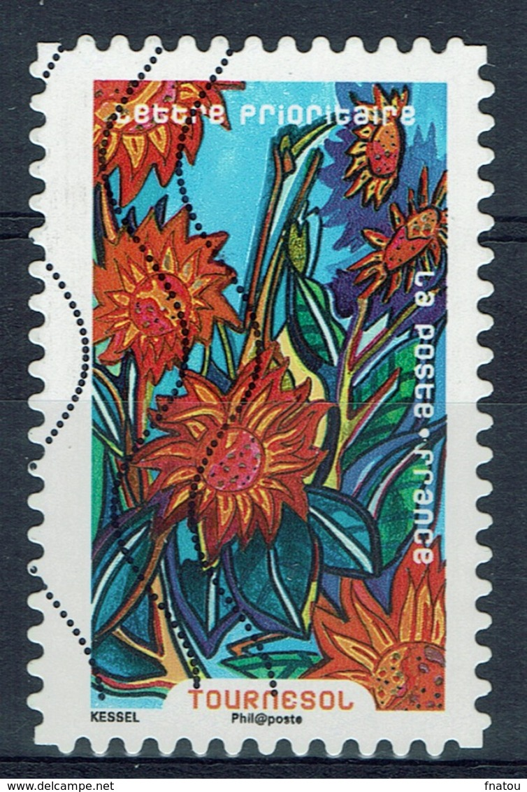 France, Flower, Sunflower, 2016, VFU Self-adhesive - France