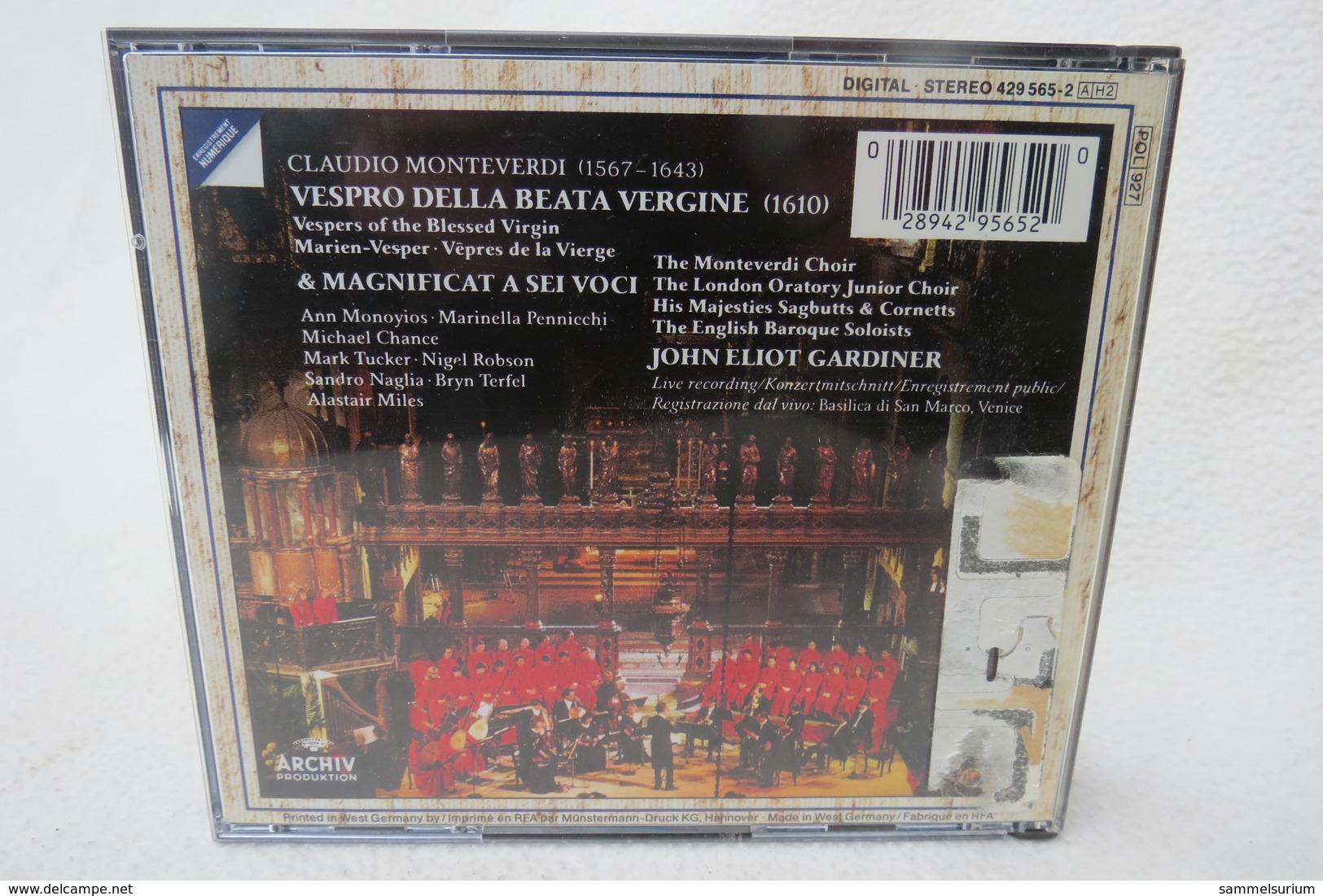 "2 CDs ""Claudio Monteverdi"" Vespro Della Beata Vergine / Vespers Of Blessed Virgin / Marien-Vesper, John Eliot Gardiner - Klassik"