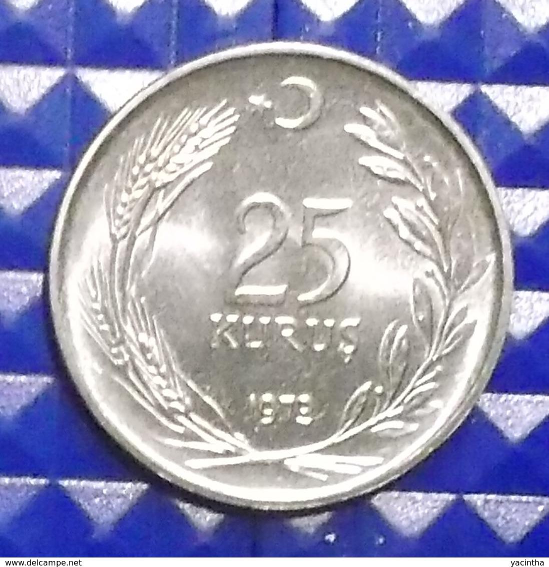 @Y@  Turkije  25  Kurus   1973  BU    (2924) - Türkei