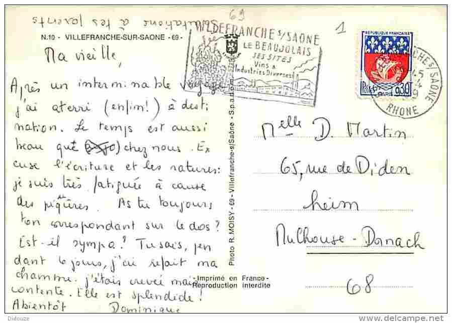 69 - Villefranche Sur Saone - Multivues - Voir Scans Recto-Verso - Villefranche-sur-Saone